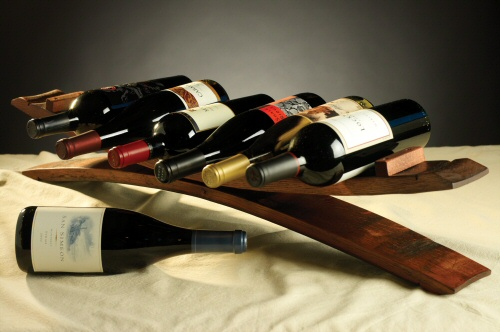 Product Image for Barrel Stave Wine Rack